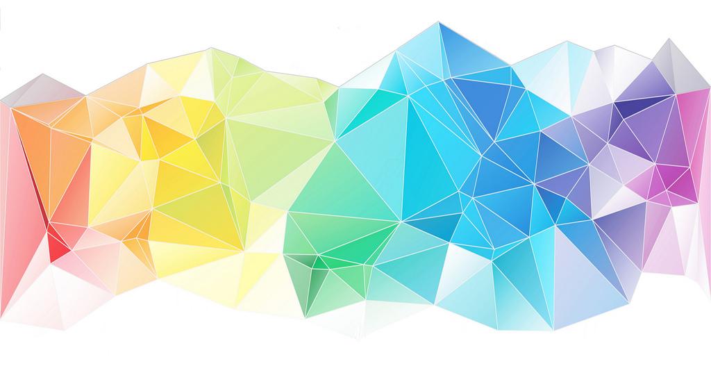 Imagem triângulos multicores
